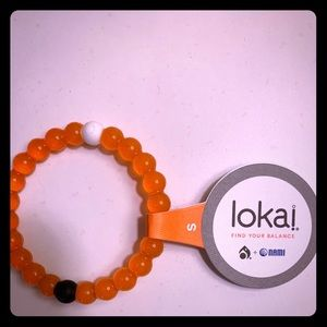 Lokai Orange Bracelet size small NWT